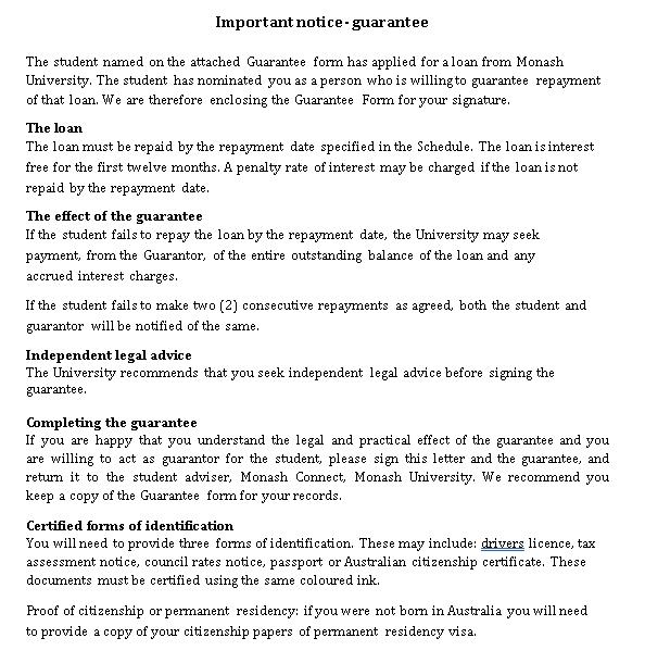 Personal Guarantee Loan Agreement
