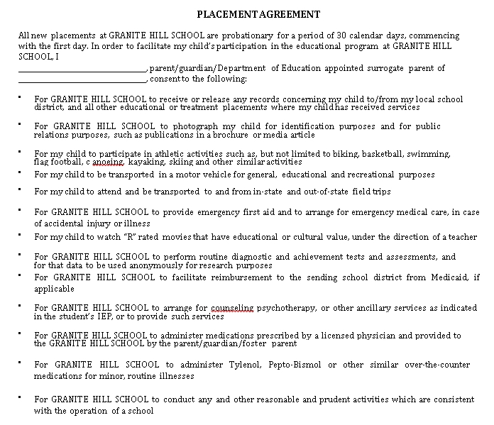 Placement Agreement Format