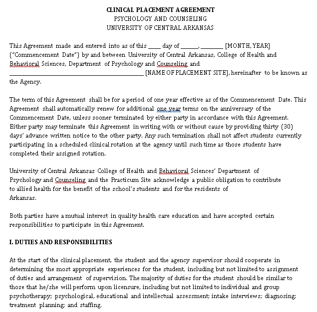 Placement Agreement Template