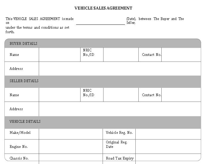 Professional Vehicle Sale Agreement