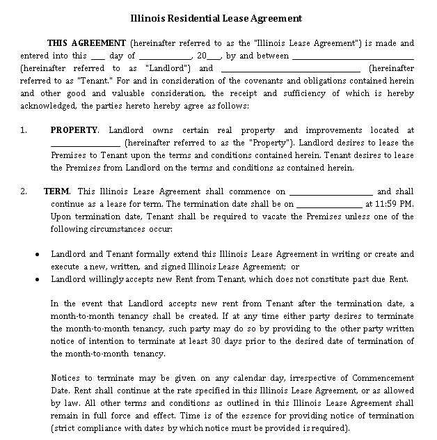 Property Lease Agreement Template 5
