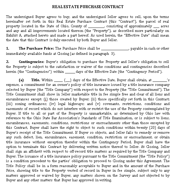 Real Estate Purchase Contract 2