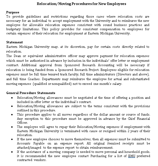 Relocation Agreement Template 6