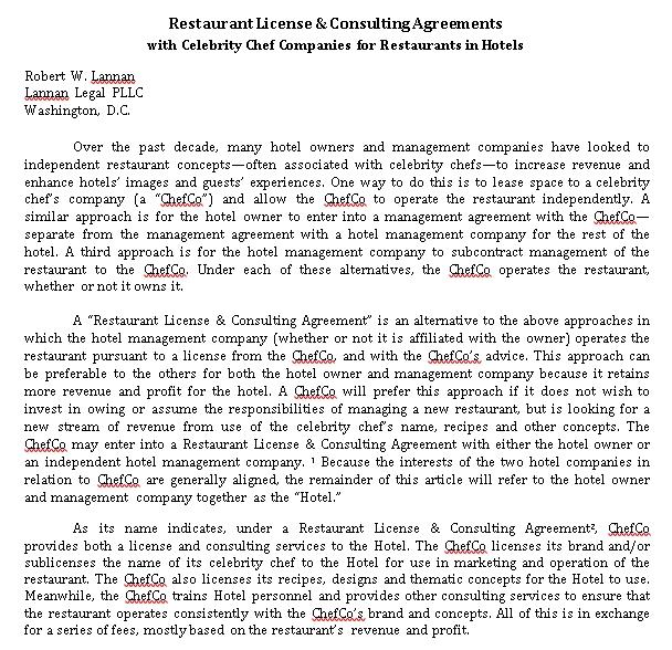 Restaurant Marketing Agreement Template