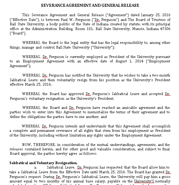 Severance and General Release Agreement