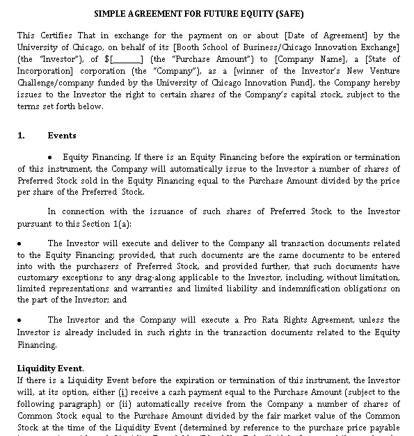 Simple Property Equity Share Agreement