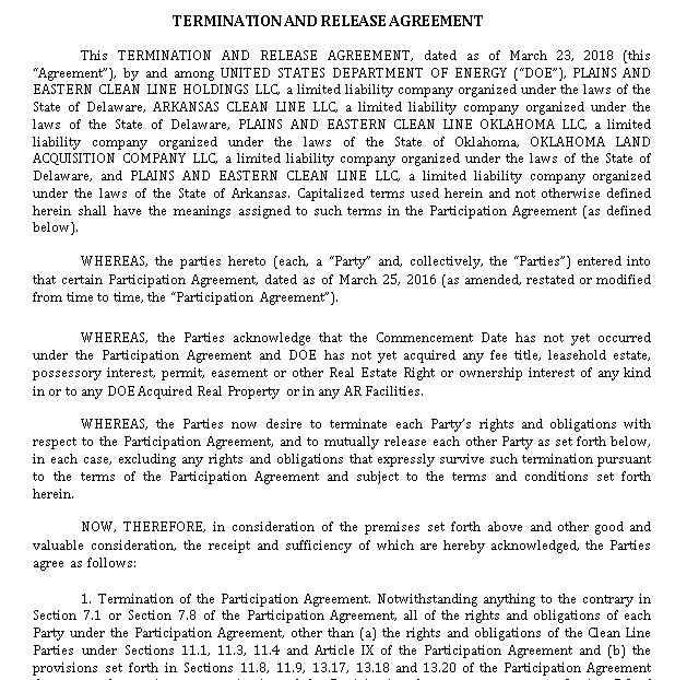 Termination and Release Agreement