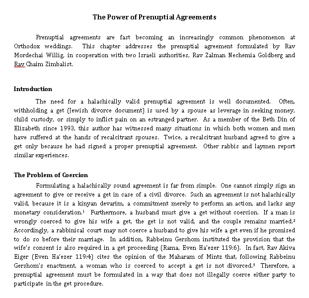 The Power of Prenuptial Agreements Document