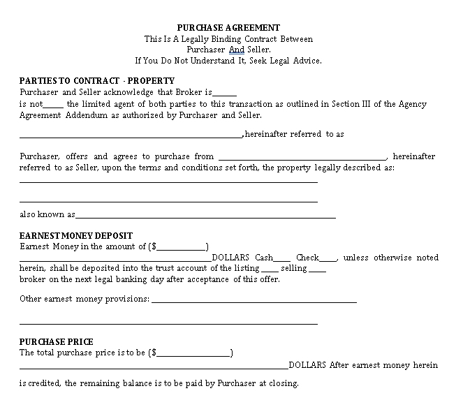 purchase agreement 1