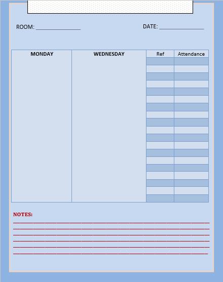 Blank Meeting Schedule Download