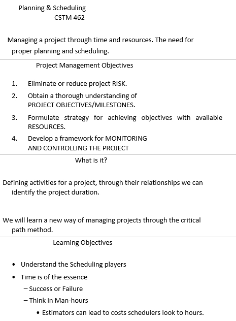 Construction Project Schedule Excel