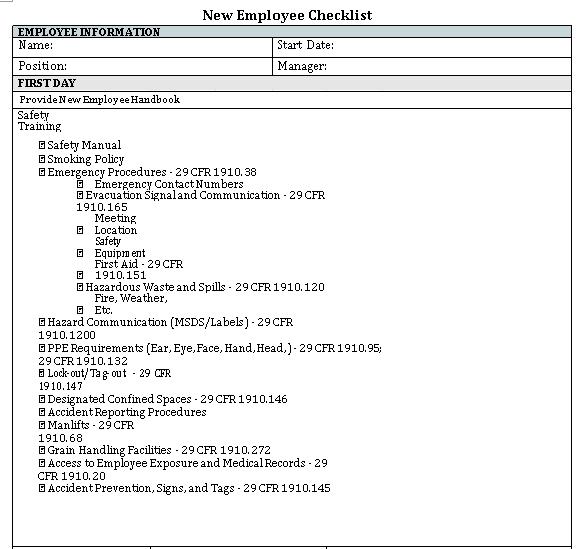Employee Training Program Schedule