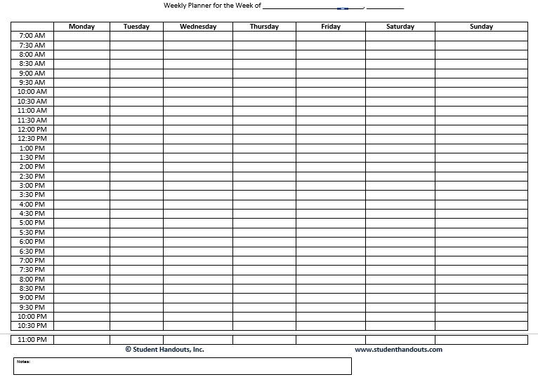 Family Schedule Daily Weekly Hourly Planner Word Doc