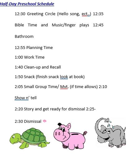 Half Day Preschool