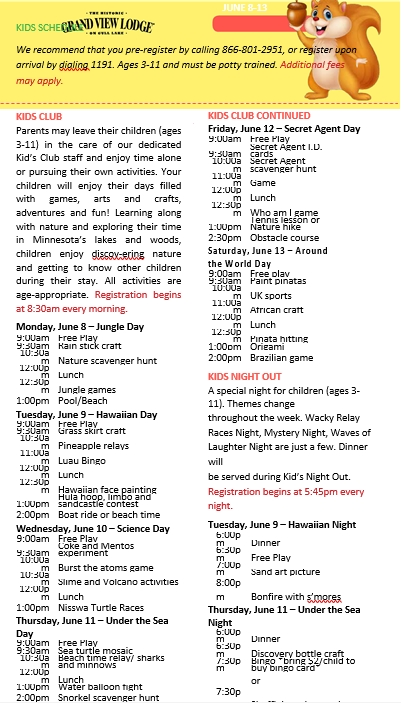 Kids Schedule 002