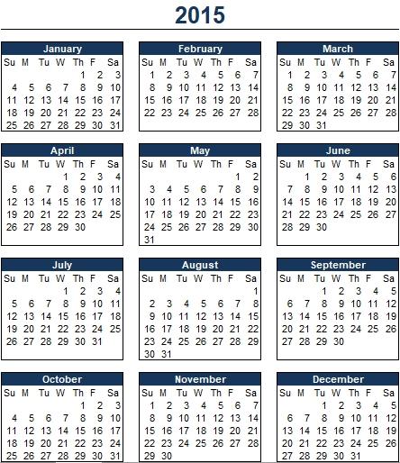 Monthly Schedule Excel