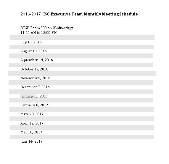 Monthly Team Schedule 1