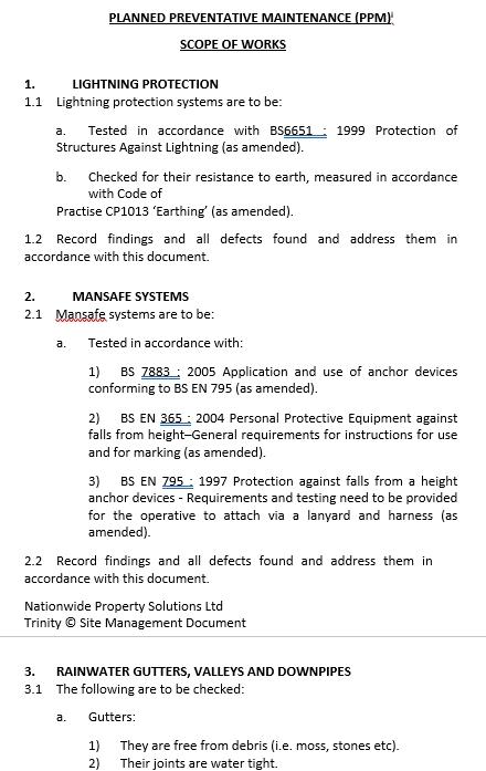 Planned Preventive Maintenance Schedule Download