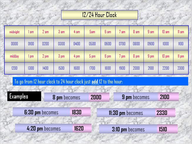 PowerPoint Timetable Calendar Schedule