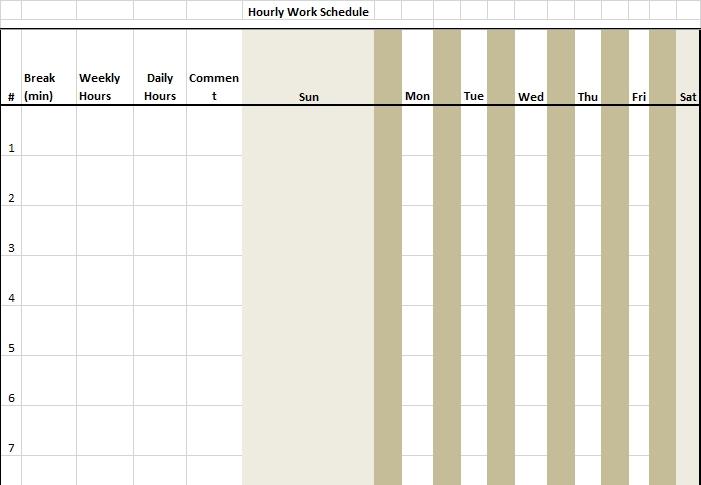 sample hourly schedule download
