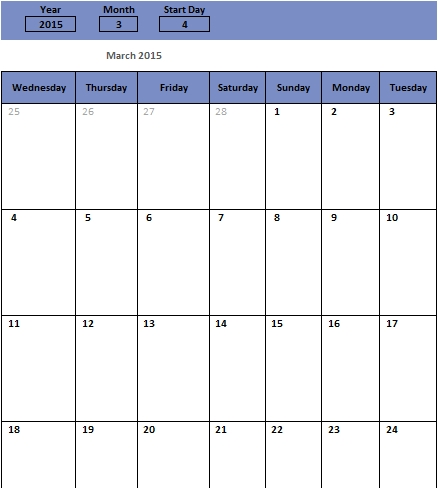 sample monthly schedule for free